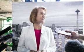Seattle Mayor Jenny Durkan at Apple's announcement