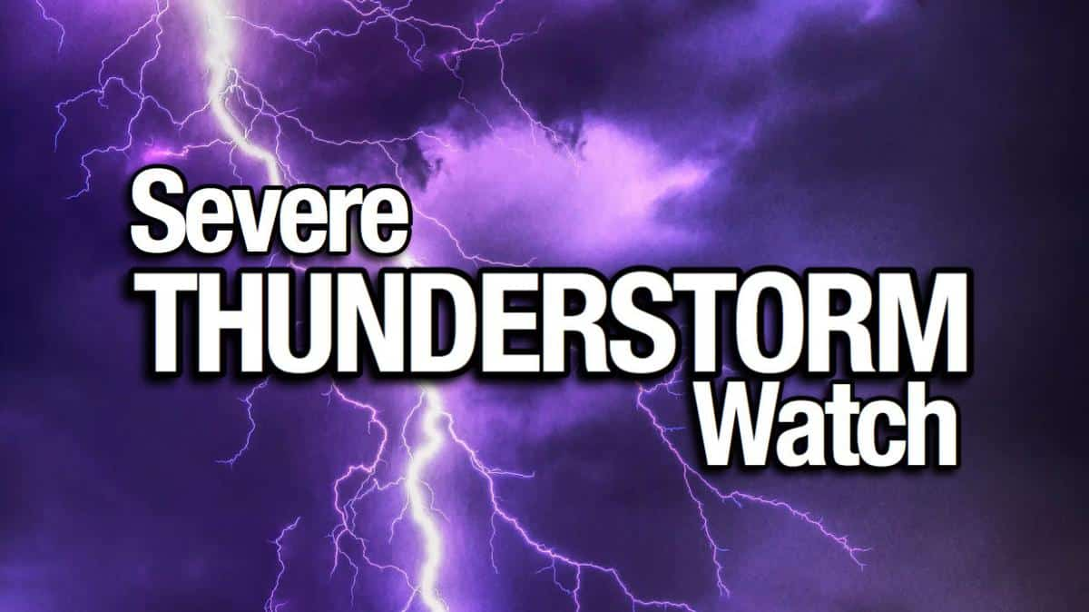 Severe Thunderstorm Watch Issued for Washington, Oregon
